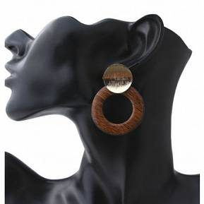 Houten oorbellen